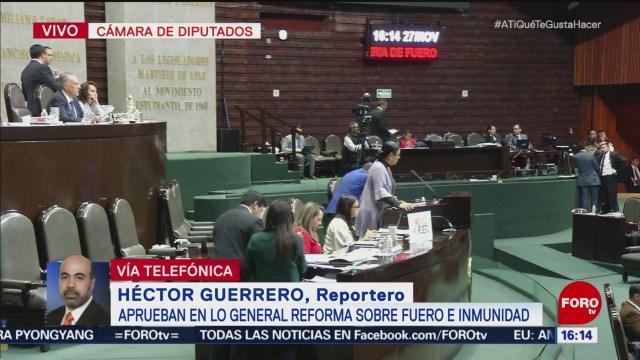 Diputados aprueban eliminar el fuero constitucional