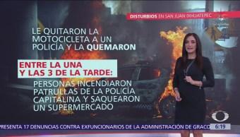 Disturbios en San Juan Ixhuatepec, Estado de México