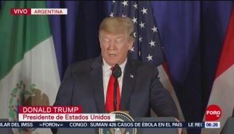Donald Trump reconoce esfuerzo para la renegociación del T-MEC