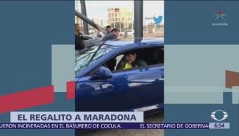 Dorados de Sinaloa regalan auto de 721 mil pesos a Maradona