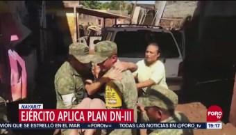 Ejército Aplica Plan Dn-III En Nayarit Willa