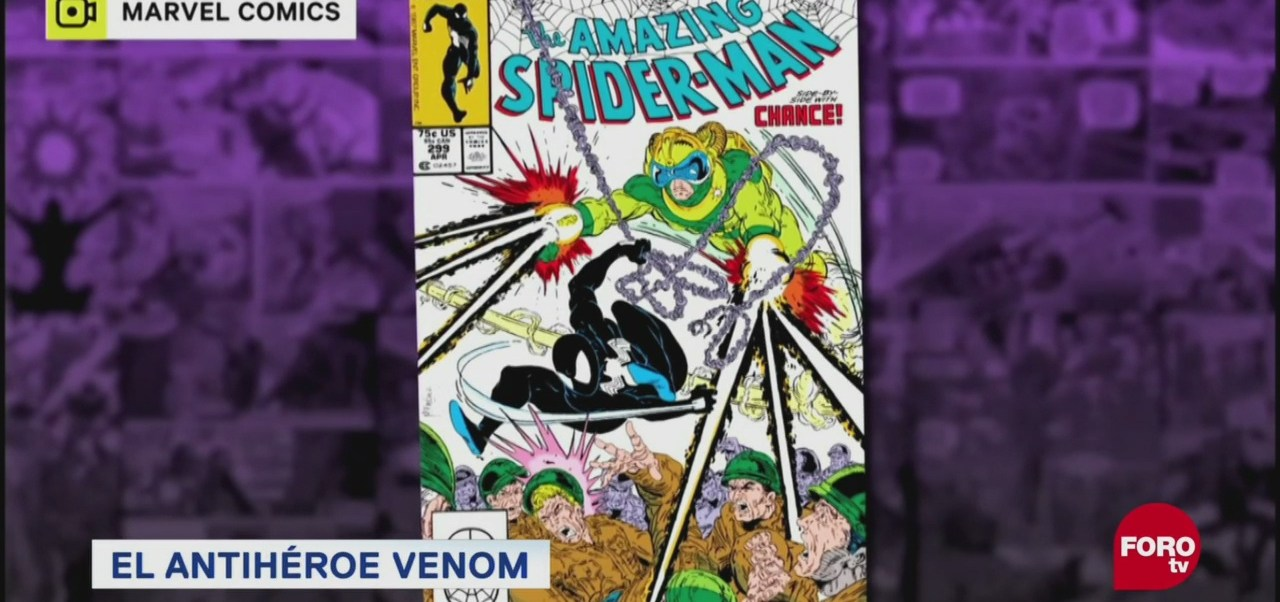 Antihéroe Venom Enemigos De Spiderman Popular Personaje