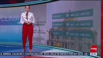 El clima A las Tres con Daniela Álvarez del 9 de noviembre de 2018