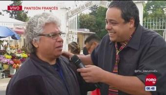 'El Reporñero' entrevista a personas que visitan el Panteón Francés