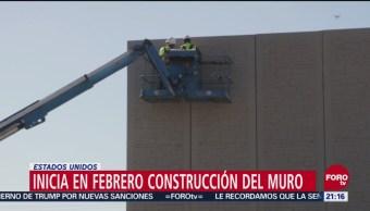 Febrero Inicia Construcción Muro Trump Texas