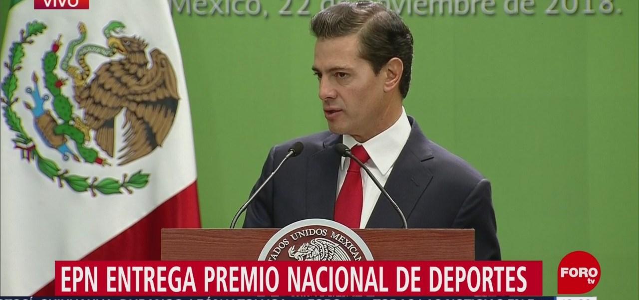 Peña Nieto reconoce talento de los deportistas mexicanos