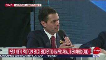 EPN en el Encuentro Empresarial Iberoamericano