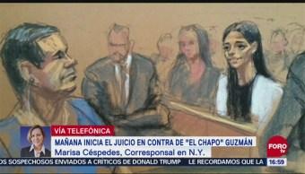 """Lunes Nueva York Juicio Joaquín """"El Chapo"""" Guzmán"""