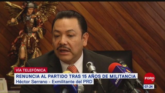 Héctor Serrano: PRD vive una situación crítica al no tener diálogo interno