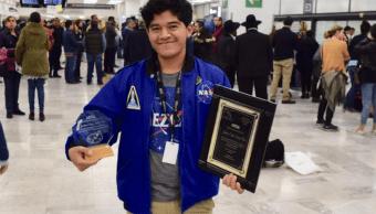 Estudiante mexicano gana segundo lugar concurso NASA