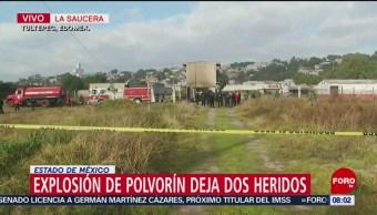 Explosión deja dos heridos en Tultepec, Estado de México