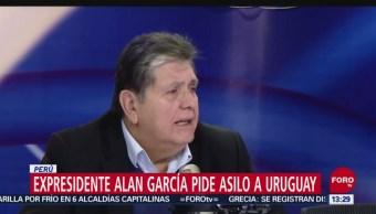 Expresidente Alan García solicitó asilo político a Uruguay
