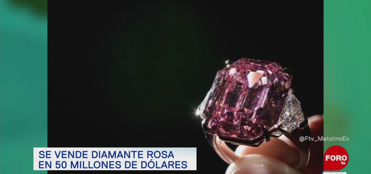 Extra, Extra: Diamante rosa se vende por cifra récord