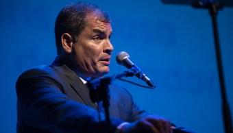 Llaman a juicio al expresidente Rafael Correa por secuestro