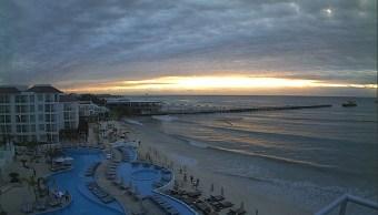 Frente frío provoca lluvia intensa en Yucatán y Quintana Roo