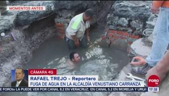 Fuga de agua en Venustiano Carranza