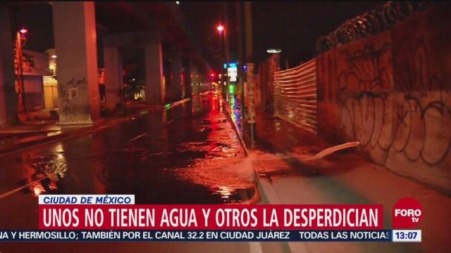 Fugas de agua persisten en alcaldías de la Ciudad de México