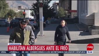 Habilitan albergues en Chihuahua por bajas temperaturas