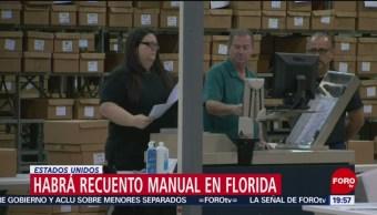 Habrá Recuento Votos Elección Florida EU