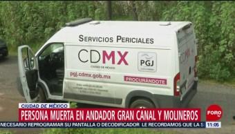 Hallan a persona muerta en andador Gran Canal y Molineros, CDMX