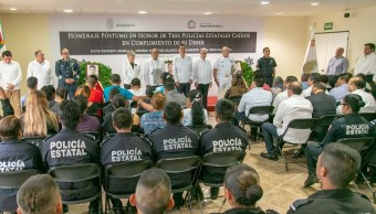 Violencia Guerrero; homenaje policías asesinados Taxco