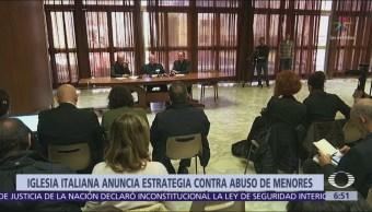Iglesia italiana anuncia estrategia contra abuso de menores