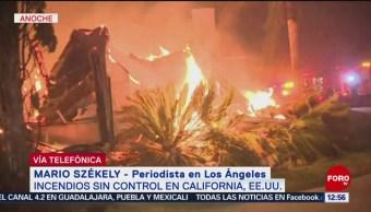 Incendio forestal en California está fuera de control