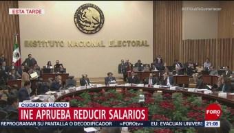 INE Aprueba Reducción Salario Consejeros Electorales
