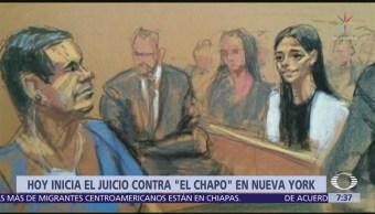 Inicia juicio contra 'El Chapo' Guzmán en Nueva York