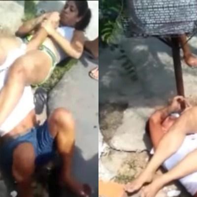 VIDEO: Intentan robar celular a practicante de artes marciales y ella somete a ladrones