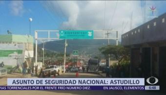 Irrupción de guardias comunitarios, asunto de seguridad nacional, dice gobernador de Guerrero