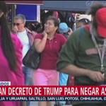 Juez bloquea decreto de Trump para negar asilo