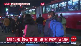 Fallas Línea B Metro Cdmx Provoca Caos