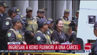 Keiko Fujimori, trasladada a una cárcel