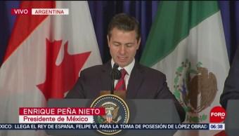 La renegociación del T-MEC reafirmó la economía de América del Norte, dice Peña Nieto