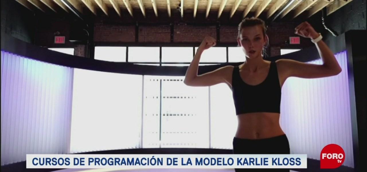 La supermodelo Karlie Kloss promueve la programación