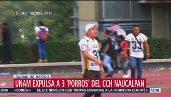 La UNAM expulsa a otros 3 estudiantes del CCH Naucalpan