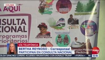 Mejora afluencia de votantes en Consulta Ciudadana en Colima