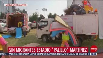 """Limpian Estadio """"Palillo"""" Martínez Salida De Migrantes"""