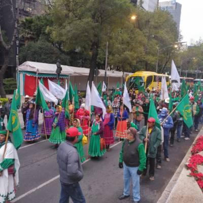Llegan campesinos a la CDMX; alistan diferentes marchas