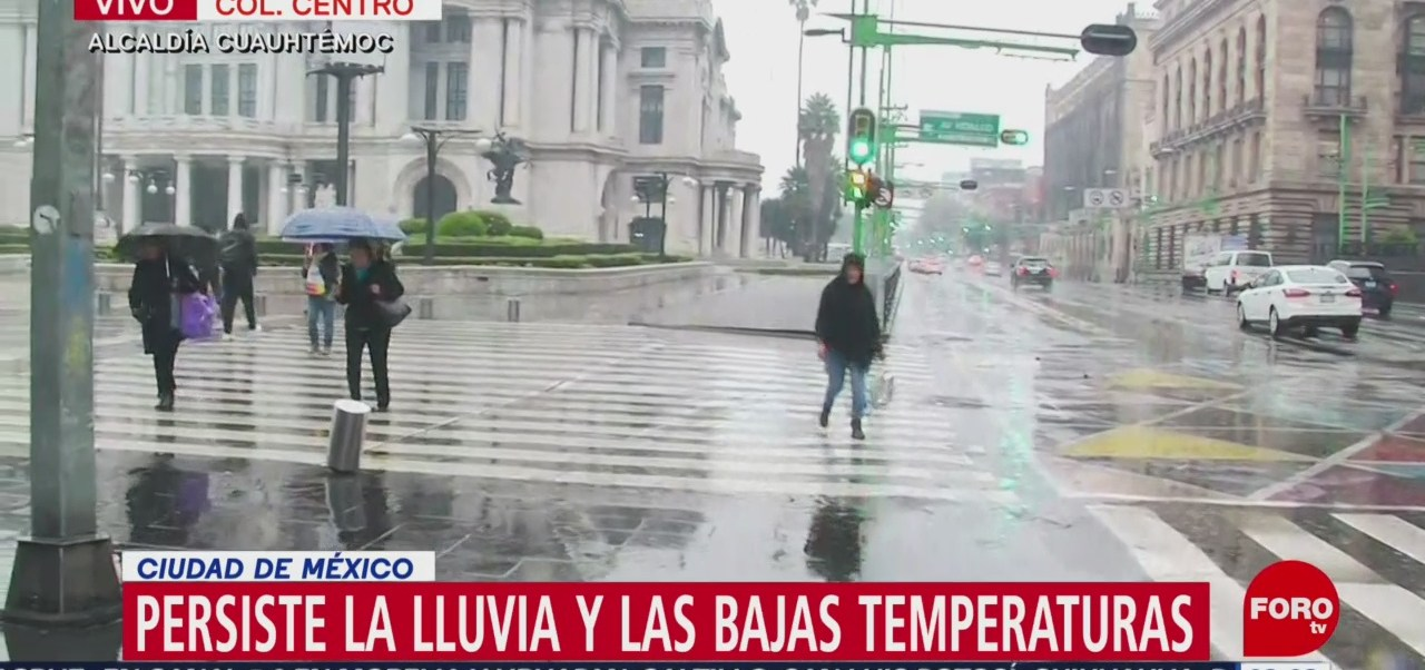 Lluvia y frío prevalece en la CDMX