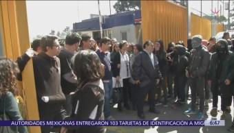 Se enfrentan estudiantes y paristas de prepa 2 UNAM
