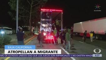 Atropellan a migrante de segunda caravana en La Rumorosa