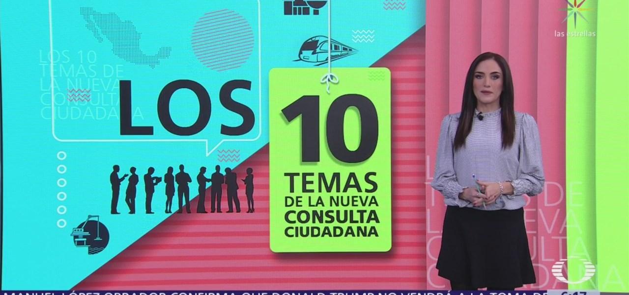 Los 10 temas de la nueva consulta ciudadana