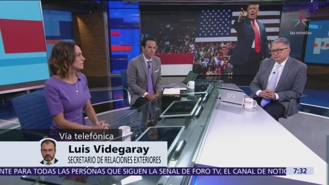 Luis Videgaray evalúa resultado de las elecciones intermedias en Estados Unidos