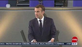 Macron pide fortalecer Europa