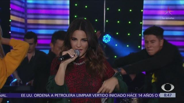 Maite Perroni interpreta 'Bum bum dale dale' en Al Aire
