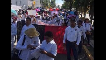 Protesta Chiapas; marchan integrantes del sector Salud