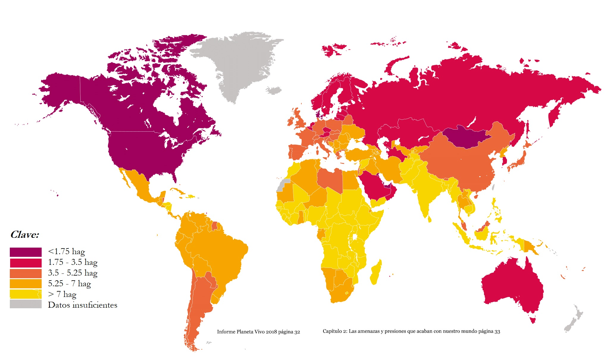 Mapa muestra cuáles países consumen más recursos naturales (WWF)