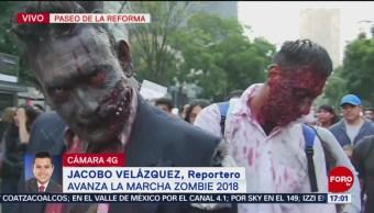 Realizan marcha zombie en la CDMX